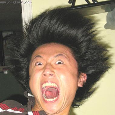 angry,Funny Asian hair,Screaming Asian