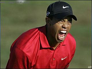 angry,Tiger Woods screaming