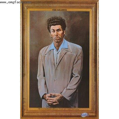confused,The Kramer,Painting Kramer,Kramer Seinfeld funny painting
