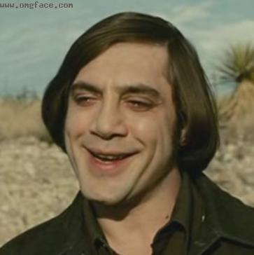 happy,no country for old men,best villain,no country for old men villain,Javier Bardem