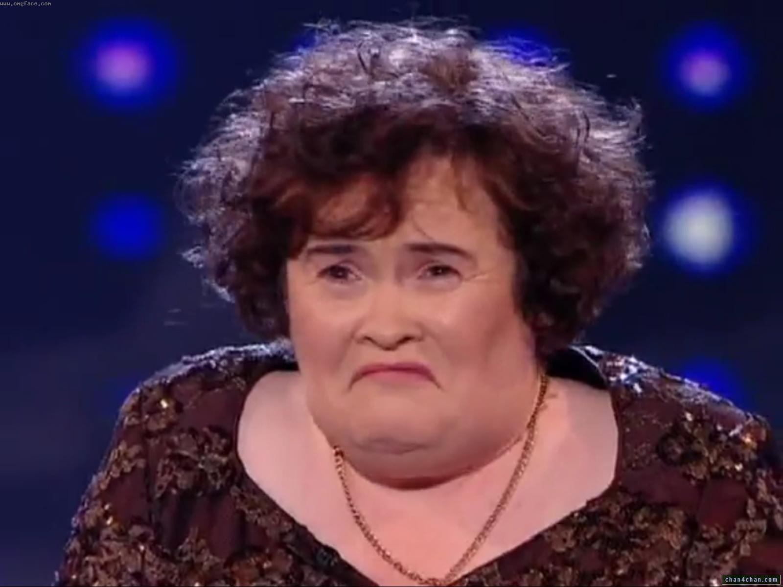 sad,Susan Boyle sad,Susan Boyle disappointed,Susan Boyle Depressed