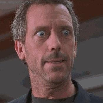 surprised,scared gregory house,gregory house surprised,funny house face,gregory house funny