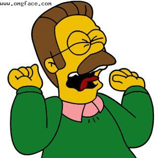 surprised,ned flanders,ned flanders scream,ned flanders gay,simpsons ned flanders,gay flanders