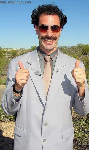 very happy,borat,borat thumbs up,thumbs up,borat very nice